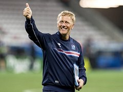 Trenér islandské reprezentace Heimir Hallgrímsson