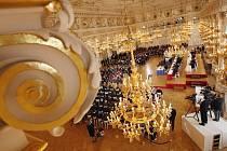 Španělský sál Pražského hradu, kde se uskutečnila volba prezidenta