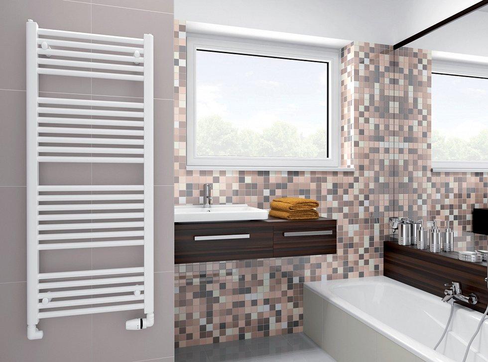 Tohle je koupelnová klasika, která nestárne. Navíc se tu dají skvěle sušit ručníky.