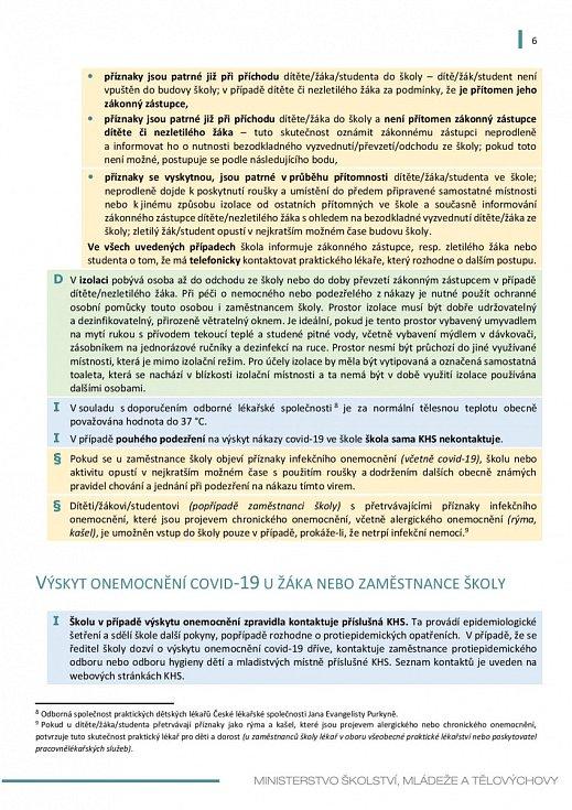 Manuál pro výuku na školách v době koronaviru - strana 6