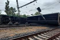 Nedaleko Teplic ve stanici Úpořiny vykolejil 26. září 2020 nákladní vlak naložený uhlím