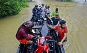 Povodně v jihoindickém státě Kérala.