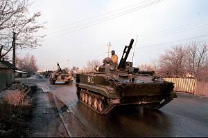 Ruské tanky v Grozném
