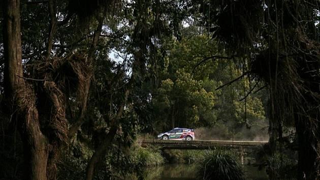 Jari-Matti Latvala na Australské rallye.