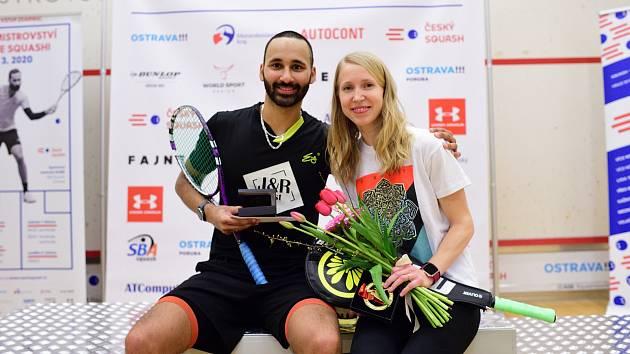 Vítězové Daniel Mekbib a Anna Sermeová.