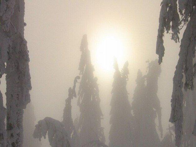 Zimní Šumava je doslova magická...