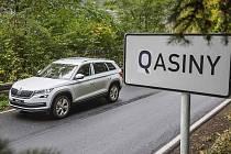 """Kvasiny se v den zahájení výroby Škody Kodiaq """"přejmenovaly"""" na Qasiny."""