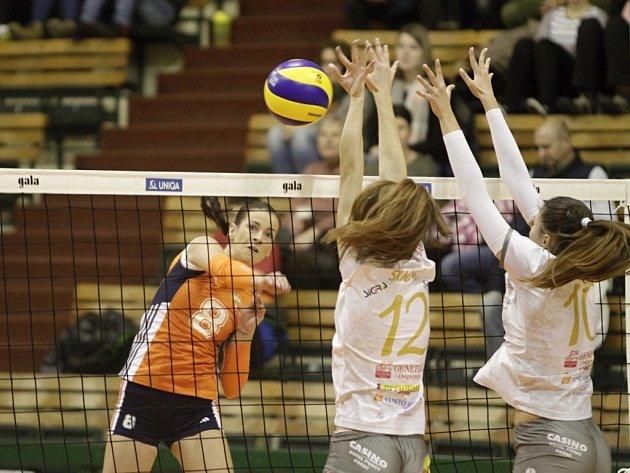 Volejbalistky Olomouce proti Poreči