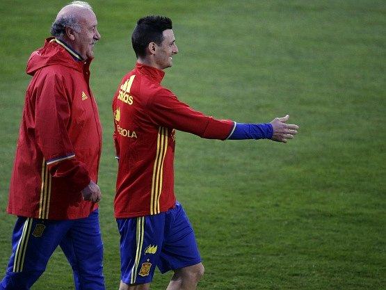 Aritz Aduriz na tréninku španělské reprezentace