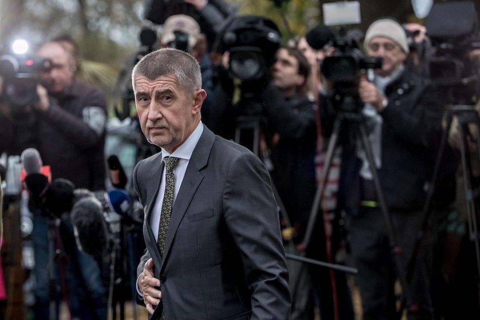 Šéf hnutí ANO Andrej Babiš se sešel s prezidentem Milošem Zemanem v Lánech