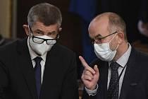 Premiér Andrej Babiš a ministr zdravotnictví Jan Blatný