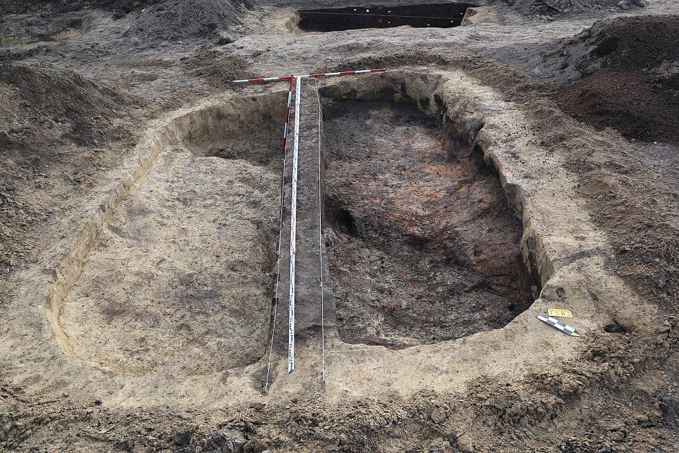 Obytná chata z časného období mladší doby železné (4. století př. n. l .)