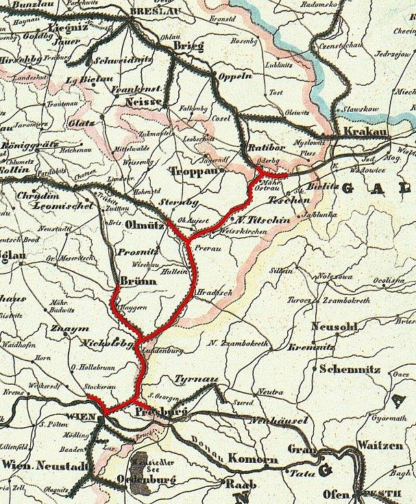 Severní dráha císaře Ferdinanda byla vybudována za časů monarchie a spojovala rakouské hlavní město s Brnem. Severozápadní dráha spojovala Vídeň se Znojmem. Ztratila význam na konci druhé světové války.