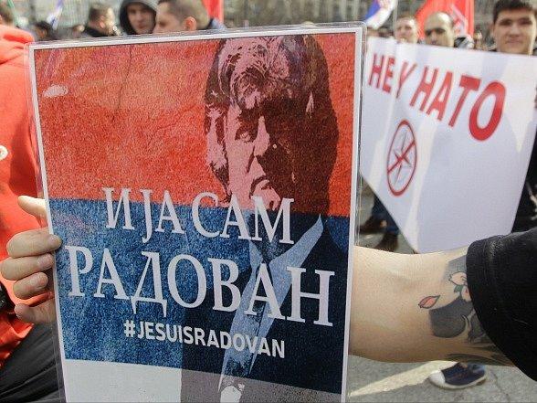 V Bělehradě proběhl protest proti NATO.