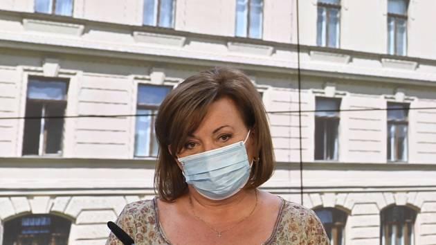 Ministryně financí Alena Schillerová (na snímku z 24. srpna 2020)