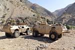 Obrněná vozidla vprovincii Pandžšír