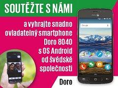 Zapojte se s námi do soutěže a vyhrajte snadno ovladatelný smartphone Doro 8040 s OS Android.