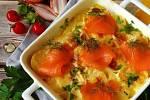 Gratinované brambory s lososem