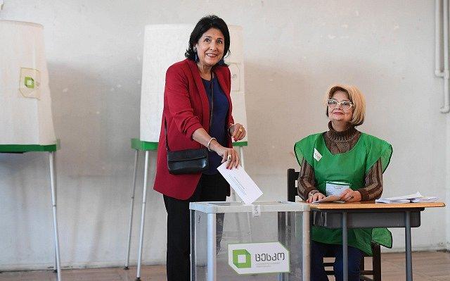 Prezidentské volby v Gruzii. Salome Zurabišviliová
