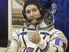 Francouzský kosmonaut Thomas Pesquet .