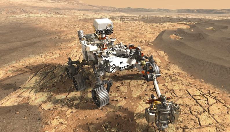 Vozítko Perseverance se zúčastní nadcházející vesmírné mise Mars 2020. Ilustrační snímek