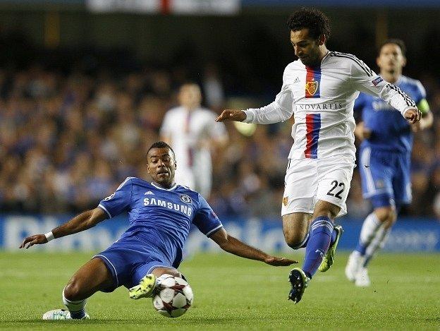 Mohamed Salah v zápase proti Chelsea