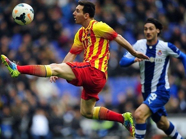 Lionel Messi v zápase proti Espaňolu