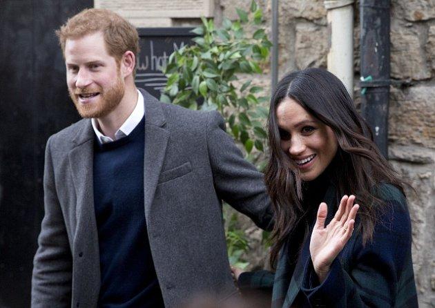 Princ Harry a Meghan Markleová v Edinburghu