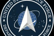 Logo Vesmírných sil, nejmladší složky amerických ozbrojených sil. Představeno bylo v roce 2020.