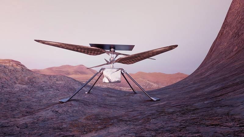 Vrtulník Ingenuity na Marsu
