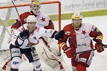 Slavia - Chomutov: Ondřej Kaše se snaží vyzrát na domácí defenzivu