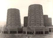 Chladicí věže v Trmicích (1930)