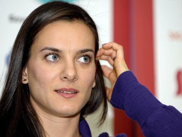 Fenomenální ruská tyčkařka a držitelka světového rekordu Jelena Isinbajevová.