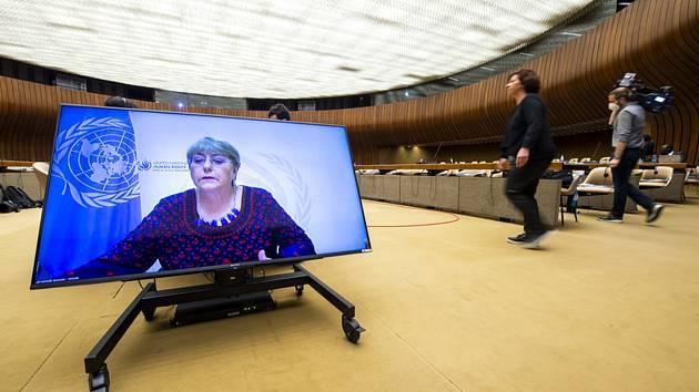Vysoká komisařka OSN pro lidská práva Michelle Bacheletová.