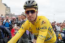 Peter Sagan ve žlutém pro lídra Tour de France.
