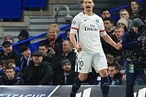 Kanonýr Paris St. Germain Zlatan Ibrahimovic.