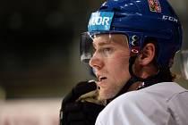 Jiří Sekáč na tréninku hokejové reprezentace.