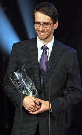 Nejlepší brankář extraligové sezony 2011/2012 Jiří Trvaj zBrna.