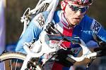 Cyklokrosař Zdeněk Štybar na trati mistrovství světa v St. Wendelu.