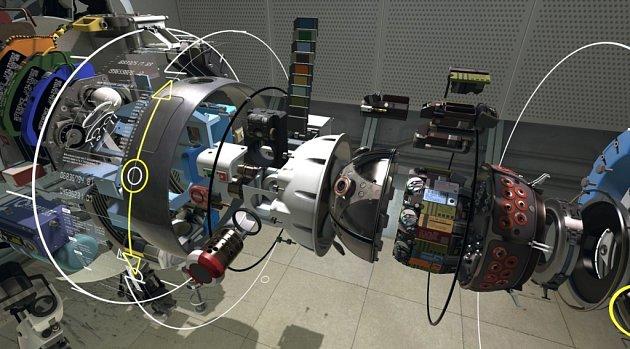 Virtuální realita: oprava robota zPortal 2sHTC Vive.