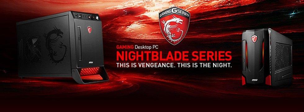 Herní počítače Nightblade X2 a MI2.