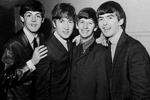 Skupina Beatles. Zleva Paul McCartney, John Lennon, Ringo Starr a George Harrison