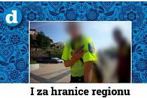 Mladík přijel do Brna v uniformě strážníka. Hrozí mu pokuta.