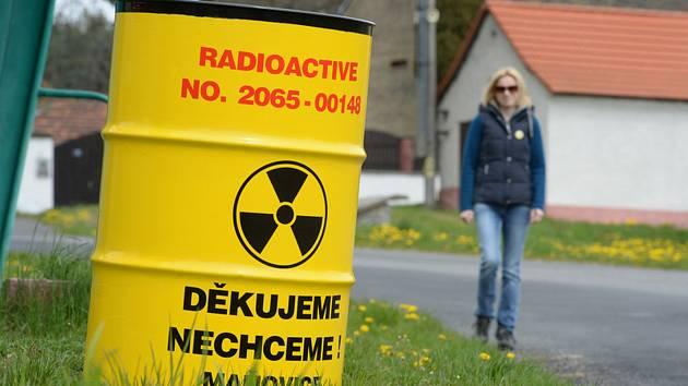 Protest proti jadernému uložišti. Ilustrační snímek