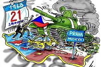 Padesát let od invaze vojsk Varšavské smlouvy.