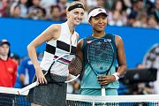 Petra Kvitová a Naomi Ósakaová před finále Australian Open