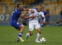 Zápas mezi Slavií Praha a Dynamem Kyjev skončil pro slávisty prohrou 0:2
