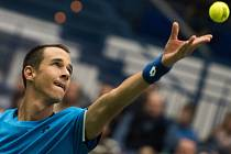 Lukáš Rosol v prvním kole Davis Cupu proti Austrálii.