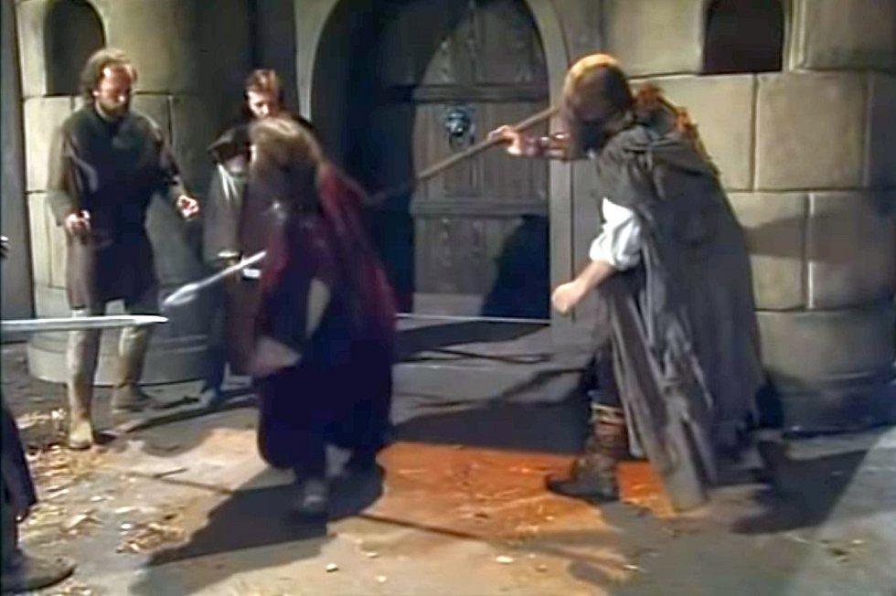 Smrt svatého Václava podle inscenace Kníže Václav režiséra Františka Filipa