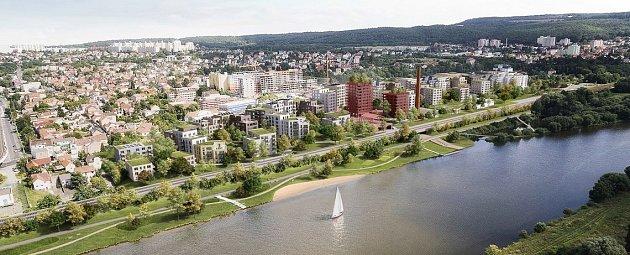 Vizualizace nové čtvrti vModřanech